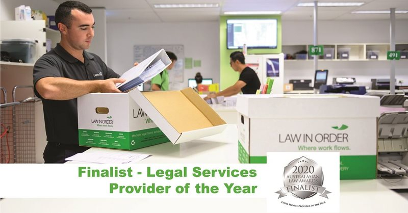 Law In Order is a Finalist at Australasian Law Awards 2020
