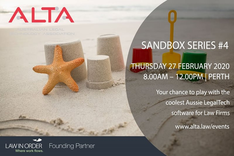 Join us at ALTA's Sandbox Series #4 in Perth