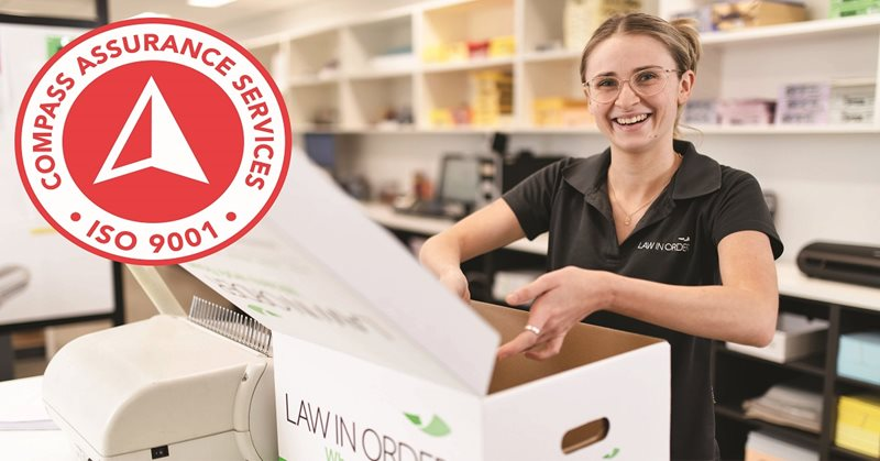 Law In Order has been Recertified to ISO 9001!