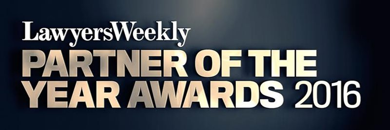Law In Order is proudly sponsoring the Lawyers Weekly Partner of the Year Awards 2016
