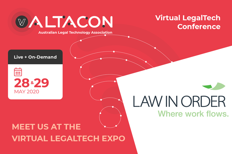 ALTACON 2020 - Virtual LegalTech Conference - 28 & 29 May